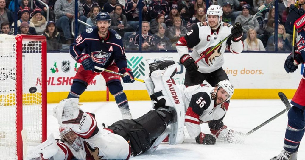 NHL Blue Jackets fall to Coyotes, 4-2