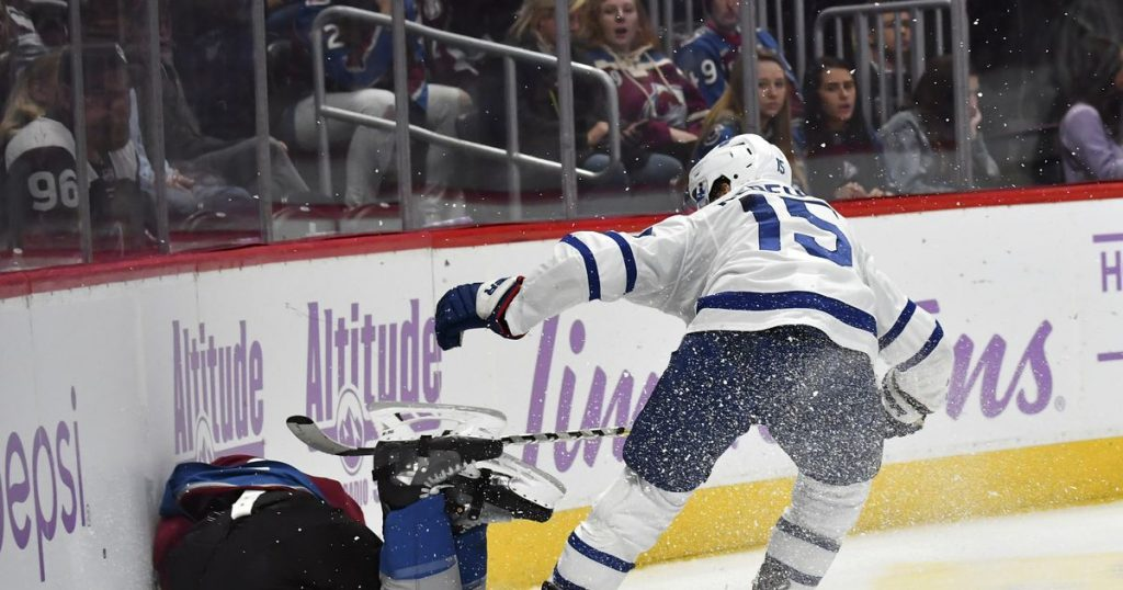 NHL Toronto's Kerfoot suspended 2 games for hit against Colorado