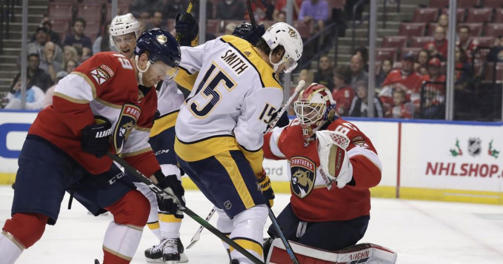 NHL Driedger posts shutout in 1st NHL start, Panthers beat Preds