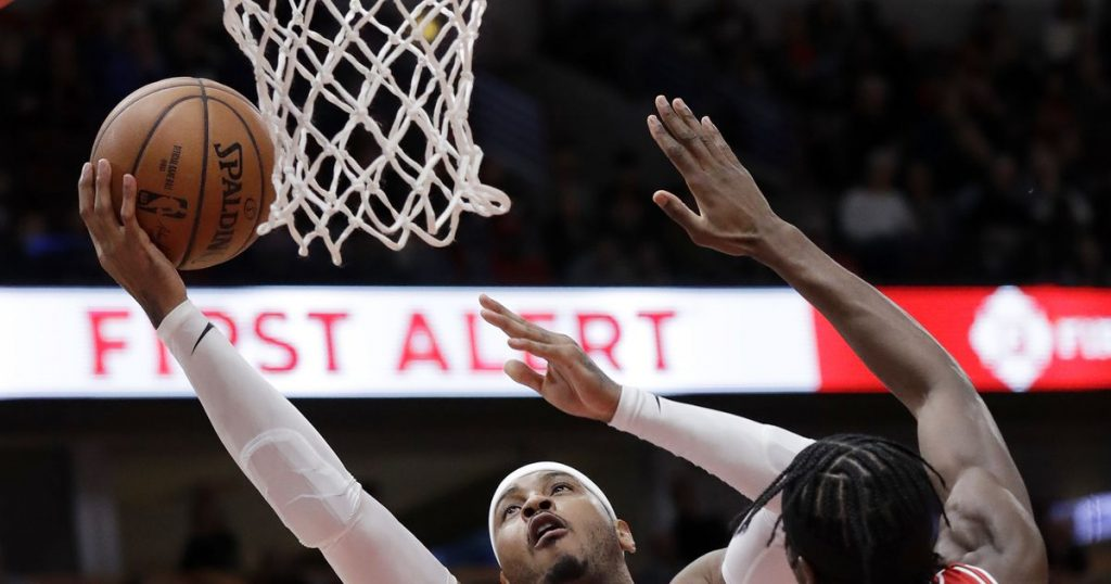 Carmelo aims to knock off rust, knock down shots for Blazers