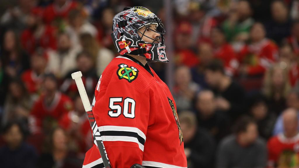 Crawford not ruled out by Blackhawks entering Cup Qualifiers